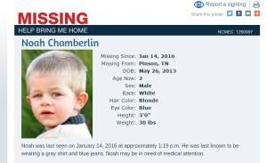 Noah missing child website