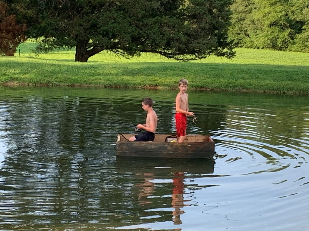 Brady Crumby And Ethan Hatler Fishing From New Jon Boat