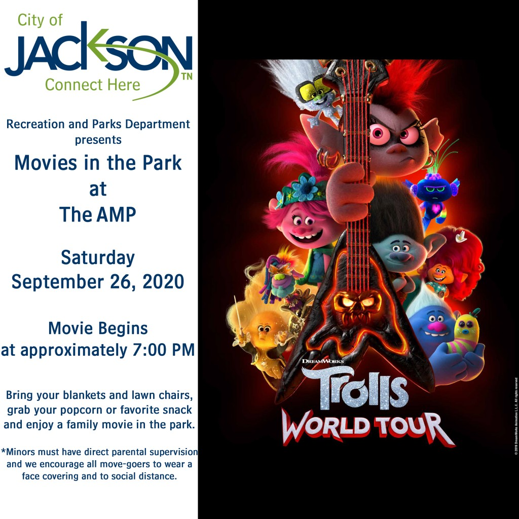 Movies In The Park Trolls World Tour