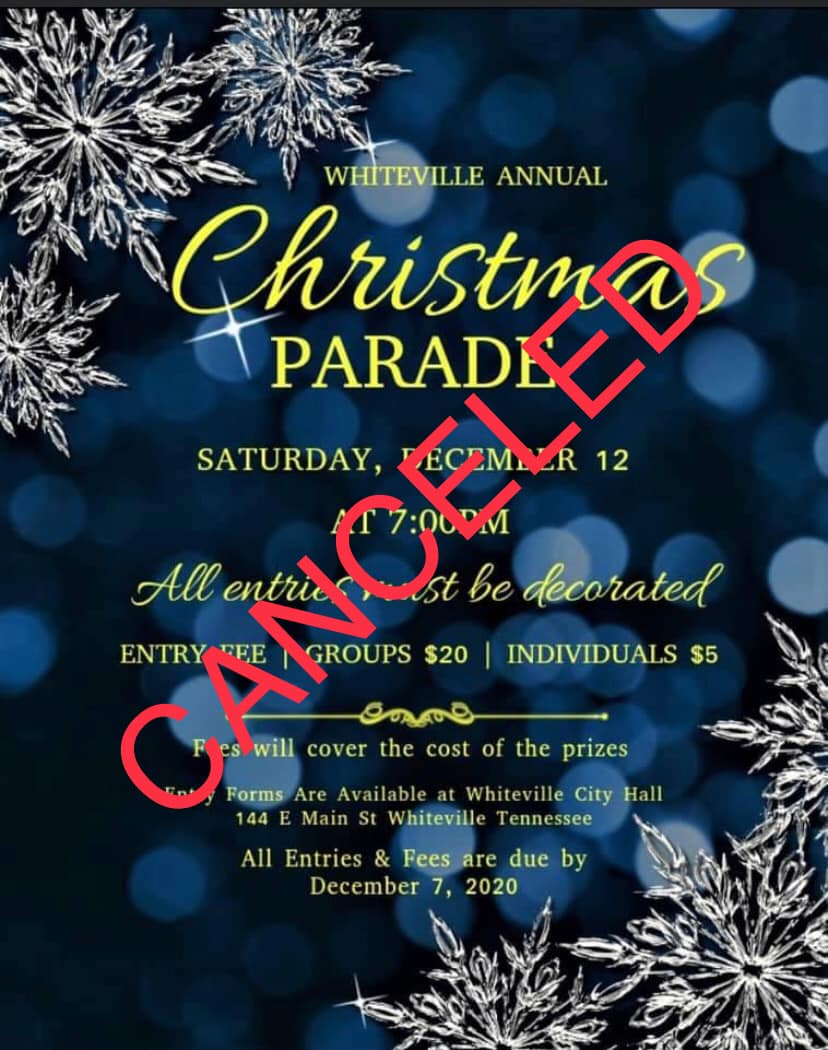 Whiteville Parade Cancelled