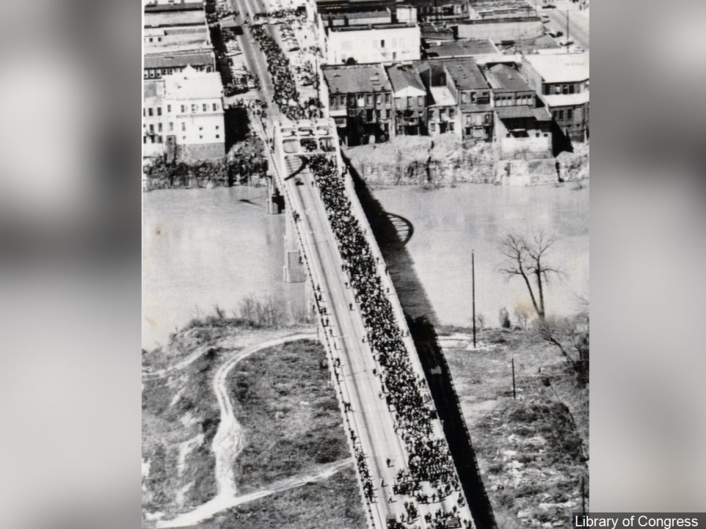 Protesters Crossing The Edmund
