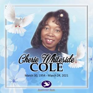 Cherie Cole Fb Announcement